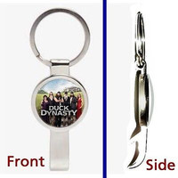 Duck Dynasty Pennant or Keychain silver tone secret bottle opener
