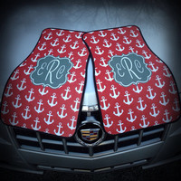 Car Mats, Personalized/Monogram Anchor Car Mats
