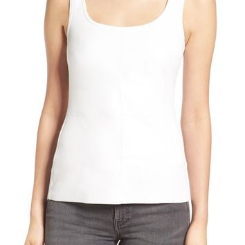 Bailey 44 'Fonda' Faux Leather Front Tank | Nordstrom
