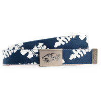 Vans Reverse Red Checkered & Navy Hawaiian Print Reversible Belt