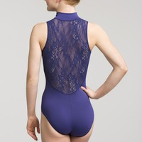 Zip Front Leotard with Kara Lace | AinslieWear
