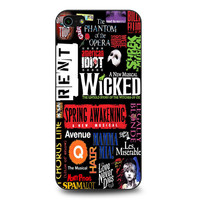 Broadway Musical Collage Art iPhone 5 | 5S case