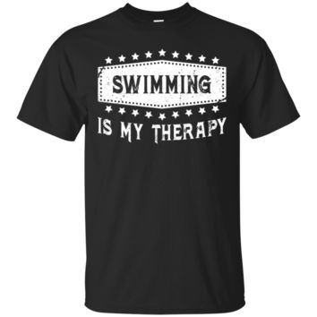 Swimming Is My Therapy T-Shirt | Funny Swimming Tee