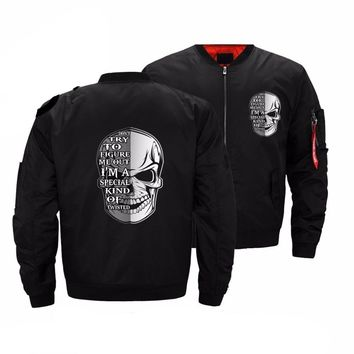 Punisher Don't try to figure skull Jacket Men streetwear Winter bomber Jacket