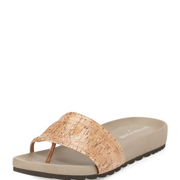 Tiso Cork Sandal Slide, Natural - Donald J Pliner