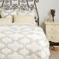Dotted Trellis Quilt by Anthropologie