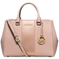 MICHAEL Michael Kors Sutton Stripe Medium Satchel | macys.com
