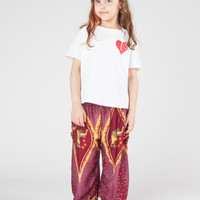 Kids Rapsu Burgundy Harem Pants