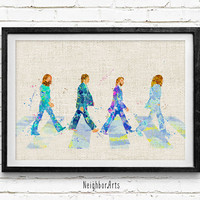 The Beatles Watercolor Art Print, Nursery Room Poster, Kids Decor Home Decor, Not Framed, Buy 2 Get 1 Free