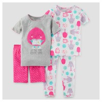 Baby Girls' Snug Fit Cotton 4pc Pajama Set - Just One You™ Made by Carter's®