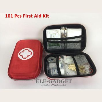 ONETOW New 101 Items/Set Outdoor Portable Waterproof First Aid Kit Red EVA Bag For Family Or Travel Emergency Medical Treatment