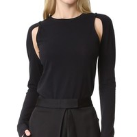 Knit Top with Cutouts