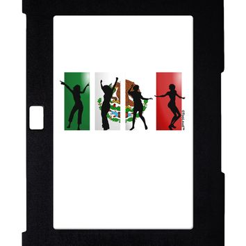 Mexican Flag - Dancing Silhouettes Galaxy Note 10.1 Case  by TooLoud