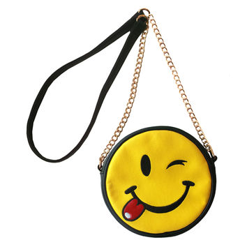 Olivia Miller Winking Tongue Emoji Crossbody | Overstock.com Shopping - The Best Deals on Crossbody & Mini Bags