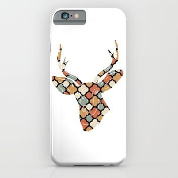 DEER SILHOUETTE HEAD WITH PATTERN iPhone & iPod Case by deificus Art