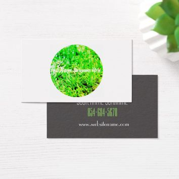 Green Grass Lawn Organic Feel Business Card