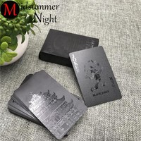 Waterproof Black Plastic Playing Cards - Black Diamond Poker Cards