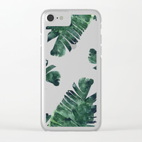 Banana Leaf Watercolor #society6 #buy #decor Clear iPhone Case by 83 Oranges™