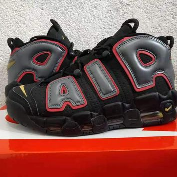 "Nike Air More Uptempo ""Black Red Gold Gray"" - Best Deal Online"