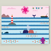 Whales Kiss Art Print by Design4uStudio on BoomBoomPrints