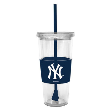 Boelter Lidded Cold Cup with Straw - MLB New York Yankees