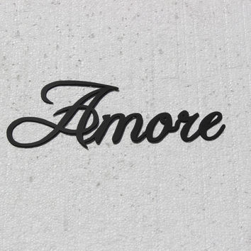 Amore Italian Word for Love Metal Wall Art Home Decor