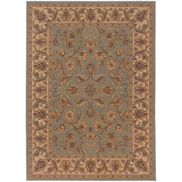 Nadira Blue Ivory Oriental Persian Traditional Rug