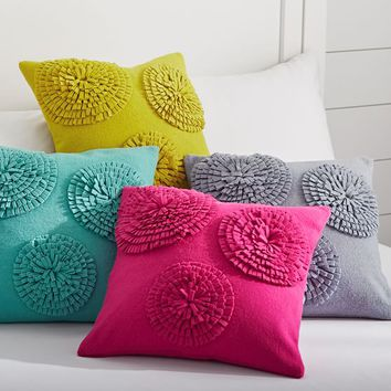 Starburst Felt Pillow Cover