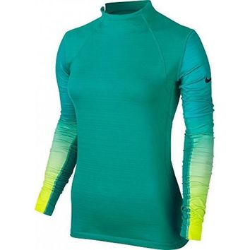 CREYON Nike Women's Pro Hyperwarm Fade Fitted Long Sleeve Training Shirt (Medium)