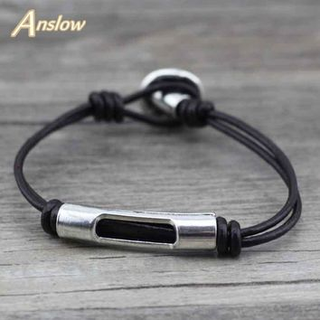 Anslow Trendy Classic Hot Mens Womens Strands Rope Leather Friendship Bracelet Lucky Handmade Charm Best Friend Gift LOW0399LB