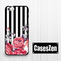 iPhone 6 iPhone 6 Plus iPhone 5s 5c Case, floral rose black stripe Lg G3 Sony Xperia Z3 Moto G Moto X Moto E Htc m8 case Samsung Note 4 S5