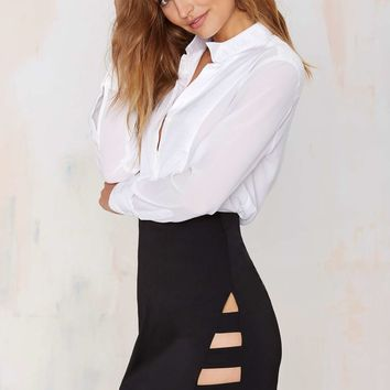 Nasty Gal Dominion Asymmetrical Skirt