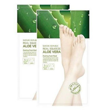 NATURE REPUBLIC Real Squeeze Aloe Vera Peeling Foot Mask - 2 pack