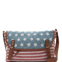 LA Hearts Americana Crossbody Bag - Womens Handbags - Red - NOSZ