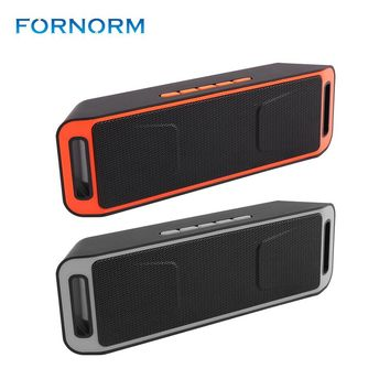Fornorm Hot Bluetooth 4.0 Wireless Speaker Portable Support TF USB FM Radio Built-in Mic Dual Speaker Bass Sound Subwoofer