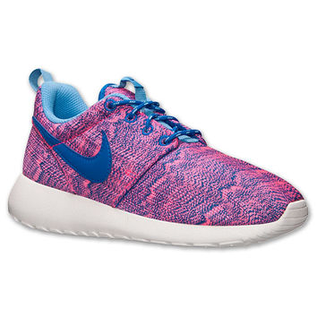 Girls' Grade School Nike Roshe Run Print Casual Shoes