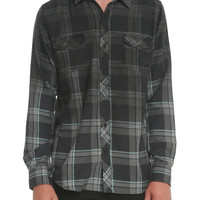 RUDE Black Tonal Spray Plaid Woven