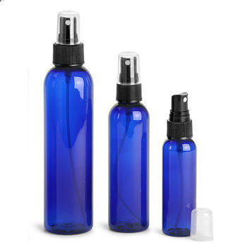 The Oily Essentials Plastic Cobalt Blue Spray Bottles 6oz (Set of 2)