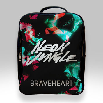 Backpack for Student - Braveheart Neon Jungle Bags