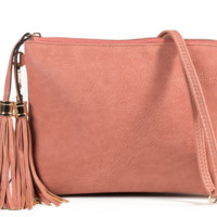 Pink Hill Jen and Co. Women's Cross Body Tassel Purse
