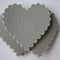 20PCS - Scrapbooking, Jewelry Design, Collage, Cardmaking and Crafting - 3cm - Hearts - Gray