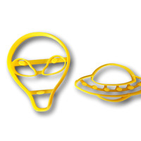 Alien and UFO cookie cutter set