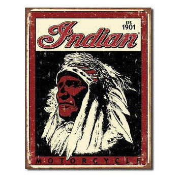 Tin Sign : Indian Motorcycle