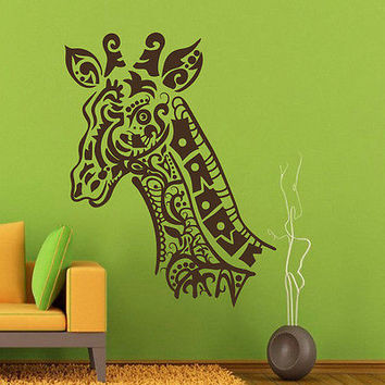 Wall Decals Giraffe Animal Decal Tattoo Art Home Bedroom Decor Sticker MR481