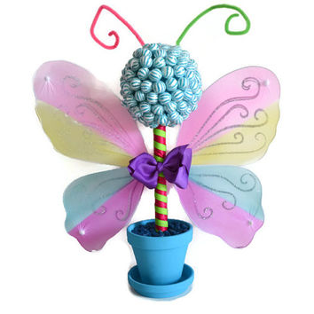 Small Butterfly Lollipop Candy Topiary