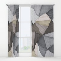 Geometric experience 02 Window Curtains by vivigonzalezart