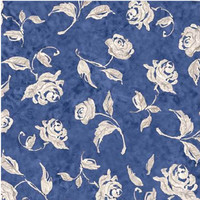 Susan Winget China Blue Roses, Cotton Sewing Fabric, Quilting Material, F2008