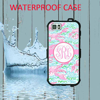 Waterproof iPhone 5 Case Lilly Pulitzer Monogram iPhone Case iPhone 5C Case Personalized iPhone 5  iPhone 5S Case Heavy Duty