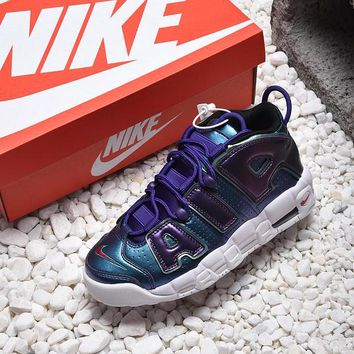 Nike Air More Uptempo GS Purple Iridescent Basketball Shoes - Best Online Sale