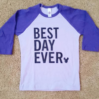 Best Day Ever Raglan Shirt - Disney Shirt - Ruffles With Love - RWL Kids